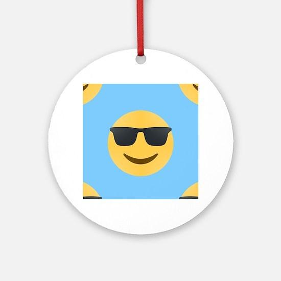 sunglasses emojis Round Ornament