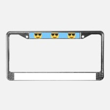sunglasses emojis License Plate Frame