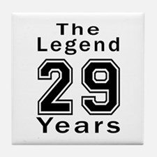 29 Legend Birthday Designs Tile Coaster