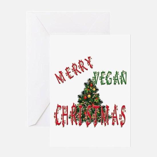 MERRY VEGAN CHRISTMAS Greeting Cards