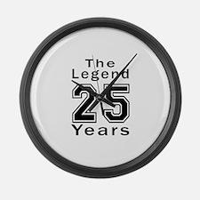25 Legend Birthday Designs Large Wall Clock