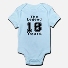 18 Legend Birthday Designs Infant Bodysuit