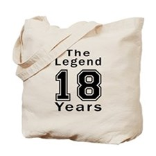 18 Legend Birthday Designs Tote Bag