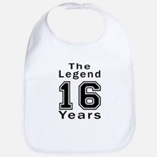 16 Legend Birthday Designs Bib