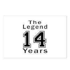 14 Legend Birthday Design Postcards (Package of 8)