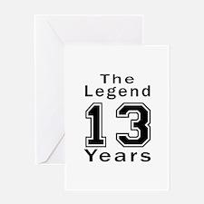 13 Legend Birthday Designs Greeting Card