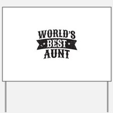 World's Best Aunt Yard Sign