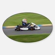 Kart Racer Sticker (Oval)