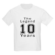 10 Legend Birthday Designs T-Shirt
