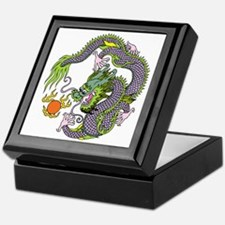 Colorful Chinese Dragon Circle Totem Keepsake Box