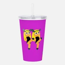 blonde twin emoji Acrylic Double-wall Tumbler