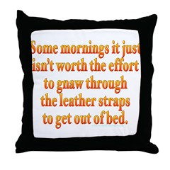 Mornings Leather Straps Throw Pillow