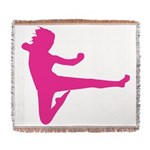 Karate Girl Woven Blanket