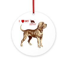 valentine or love bloodhound Ornament (Round)