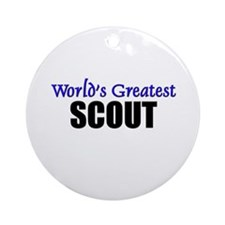 Worlds Greatest SCOUT Ornament (Round)