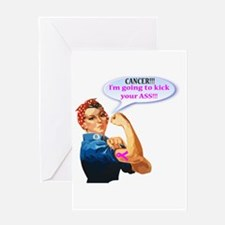 Rosie Fighting Cancer Design Greeting Cards