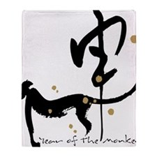 Year of the Monkey- Chinese Zodiac Throw Blanket
