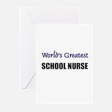 Worlds Greatest SCHOOL NURSE Greeting Cards (Pk of