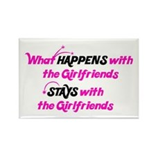 Stays With Girlfriends Rectangle Magnet