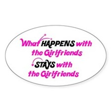 Stays With Girlfriends Oval Decal