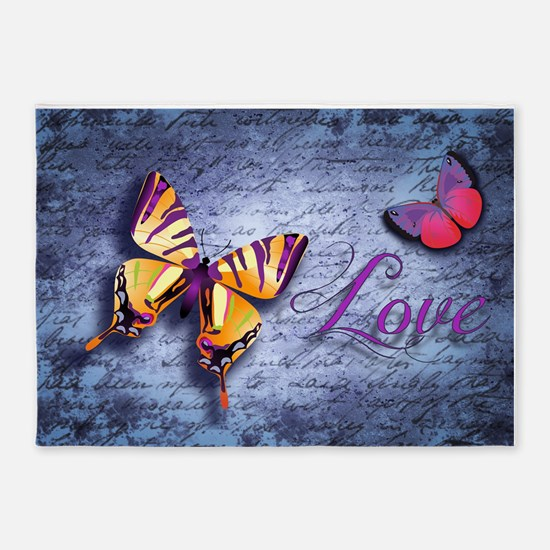 Butterfly Love 5'x7'Area Rug