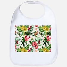Colorful Exotic Hawaiian Flowers Bib