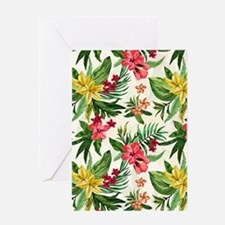 Colorful Exotic Hawaiian Flowers Greeting Cards