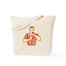Basketball Referee Technical Foul Retro Tote Bag