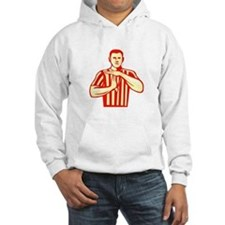 Basketball Referee Technical Foul Retro Hoodie
