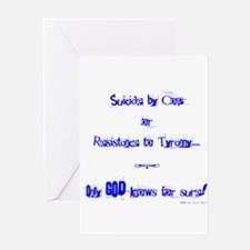 Suicide or Resistance_blue Greeting Cards