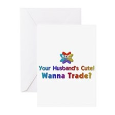 Husbands Cute Products Greeting Cards (Package of