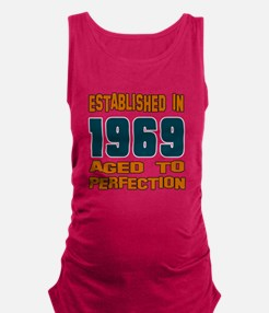 Established In 1969 Maternity Tank Top