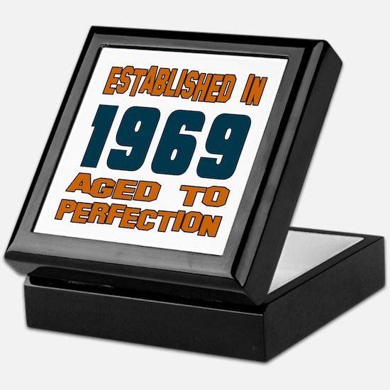 Established In 1969 Keepsake Box
