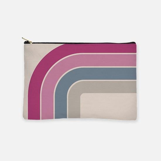 Retro Vintage Pink Curve Makeup Bag