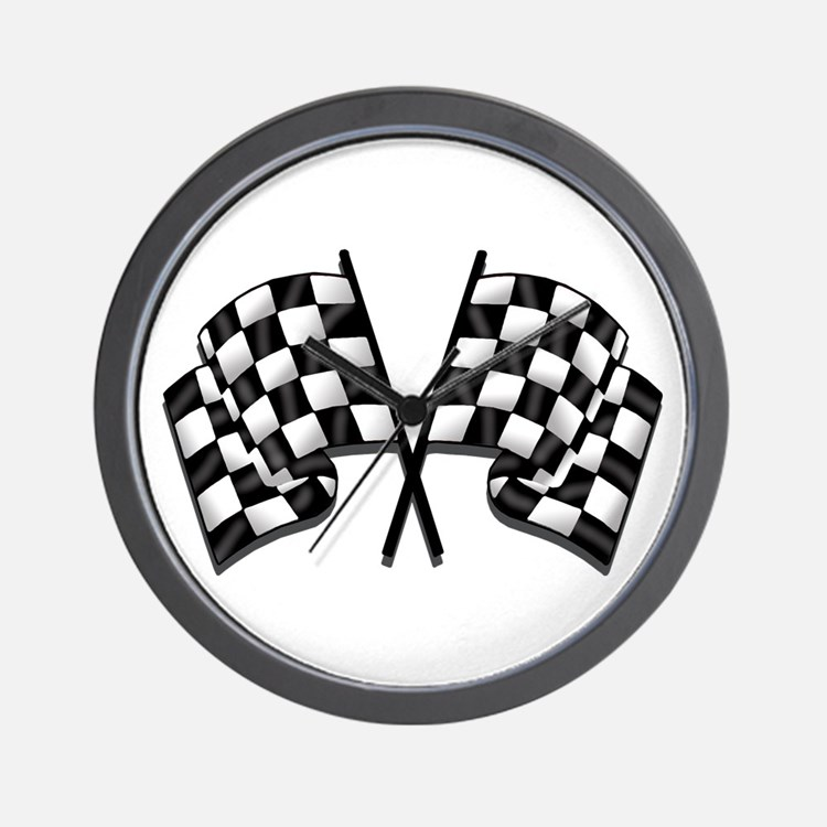Chequered Flag Wall Clock