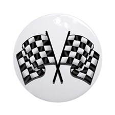 Chequered Flag Ornament (Round)