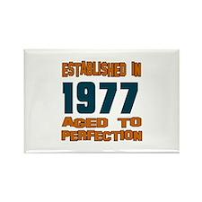 Established In 1977 Rectangle Magnet