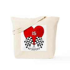 Love is Motorsports Tote Bag
