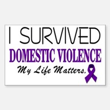 I Survived Domestic Violence-0 Decal