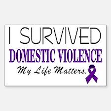 I Survived Domestic Violence-0 Sticker (Rectangle)