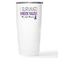 I Survived Domestic Vio Travel Mug