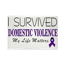I Survived Domestic Violence-01 Rectangle Magnet