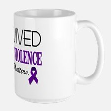 I Survived Domestic Violence-01 Large Mug