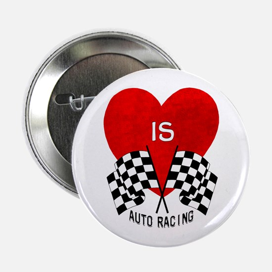"""Love is Auto Racing 2.25"""" Button"""