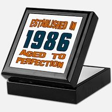 Established In 1986 Keepsake Box