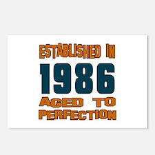 Established In 1986 Postcards (Package of 8)