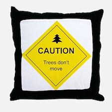 Cute Mountain biking Throw Pillow
