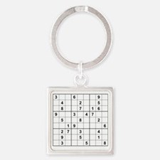 Funny Numbers Square Keychain