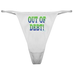Out of debt Classic Thong
