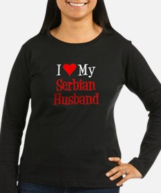 Love My Serbian Husband Long Sleeve T-Shirt